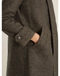 A.P.C. Gray Dinnard Prince Of Wales-checked Wool Coat