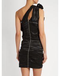Isabel Marant - Black Nyree One-shoulder Ruched Mini Dress - Lyst