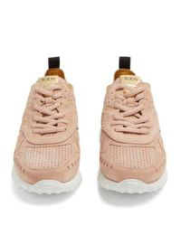 Tod's Pink Sneakers For Women