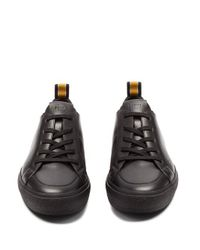 Fendi Black Low-top Leather Trainers for men