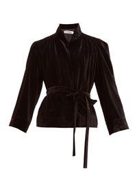 Acheval Pampa ベルテッド ベルベット シングルジャケット Black