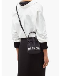 Balenciaga ウィール Xs バケットバッグ Black