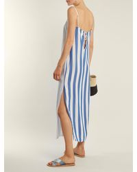 Mara Hoffman - Blue Sena Square-neck Striped Dress - Lyst