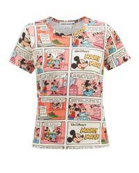 Comme des Garçons Comme Des Garçons Girl ミッキーマウス コミックプリント コットンtシャツ Multicolor