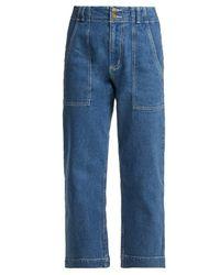 Apiece Apart - Blue Liv Cropped Jeans - Lyst