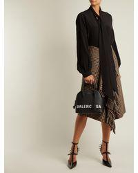 Balenciaga Black Ville Top Handle S Bag