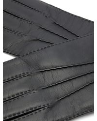 Gants en cuir à technologie tactile Shaftesbury Dents pour homme en coloris Black