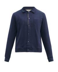 メンズ Oliver Spencer ランデル オーガニックコットン ポロシャツ Blue