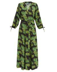 Melissa Odabash Margo ポプリンラップドレス Green