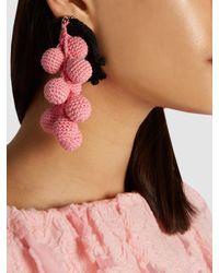 Rosie Assoulin | Pink Manishewitz Crochet Earring | Lyst