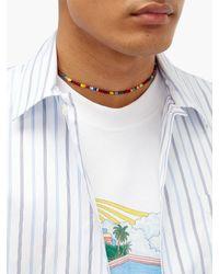 メンズ Luis Morais ガラス ビーズネックレス Multicolor