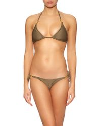 Heidi Klein Natural Manda Island Triangle Bikini Top