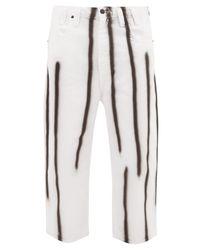 メンズ Eckhaus Latta スプレーペイント ワイドジーンズ Multicolor