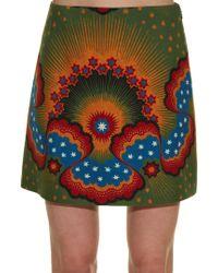 Valentino Green Enchanted Wonderland Mini Skirt