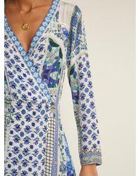 Camilla Blue Salvador Summer Silk Wrap Maxi Dress