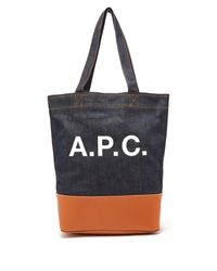 A.P.C. - Multicolor Axel Japanese Denim Tote Bag - Lyst