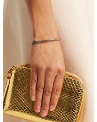 Bottega Veneta | Metallic Intrecciato-engraved Bracelet | Lyst