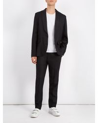 Raey Black Slim-leg Wool Tuxedo Trousers for men