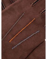 Gants en shearling à coutures contrastantes Paul Smith pour homme en coloris Brown