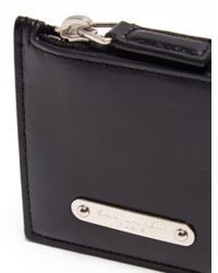 Saint Laurent - Black New Plaque Leather Cardholder for Men - Lyst