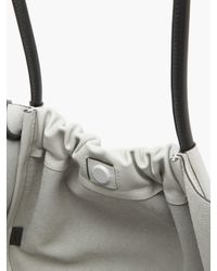 Proenza Schouler Multicolor Ruched Large Leather Tote Bag