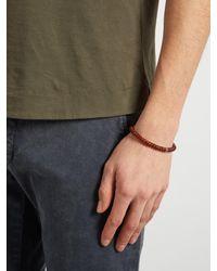 Luis Morais - Brown Bead And White-gold Skull Bracelet for Men - Lyst