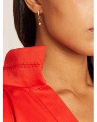 Raphaele Canot - Metallic - Set Free Diamond, Tsavorite & Yellow Gold Earrings - Womens - Green - Lyst