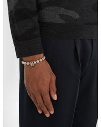 Alexander McQueen - Multicolor Skull Beaded Bracelet - Lyst