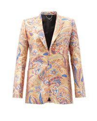 メンズ Paco Rabanne ペイズリージャカード シングルジャケット Multicolor