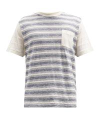 メンズ Oliver Spencer ボーダー コットンtシャツ Multicolor