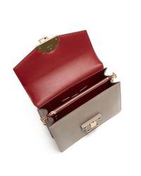 Dolce & Gabbana - Gray Lucia Lizard-effect Leather Shoulder Bag - Lyst