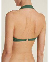 Norma Kamali Green Bill Bra Bikini Top