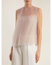 Prada Purple Cigaline Pleated Top