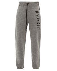 Pantalon de jogging en jersey à imprimé Radarte Rodarte en coloris Gray