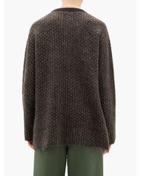 メンズ Sasquatchfabrix ポルカドット モヘアブレンドセーター Multicolor