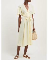 Loup Charmant Yellow Nautilus Organic Cotton-voile Midi Dress