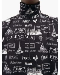 Veste en gabardine de coton à imprimé Paris Balenciaga pour homme en coloris Multicolor
