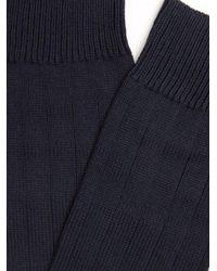Pantherella - Blue Scott Nichol Oxford Ribbed-knit Socks for Men - Lyst