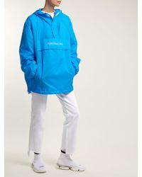 Vetements Blue Loose-fit Hooded Jacket