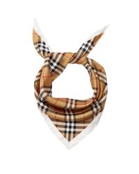 Burberry - Multicolor House-checked Silk Scarf - Lyst