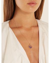 Aurelie Bidermann - Purple Amethyst & Yellow-gold Necklace - Lyst