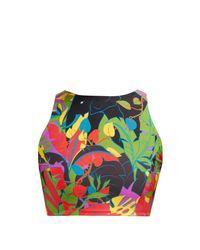 Haut de bikini à imprimé Elefante Swim LaDoubleJ en coloris Black
