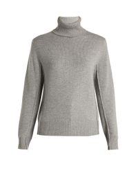 Chloé Gray Iconic Cashmere Turtleneck Sweater