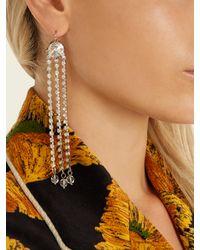 Miu Miu - Metallic Crystal-embellished Drop Earrings - Lyst