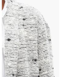 Manteau en bouclé flammé à col cascade Faby Étoile Isabel Marant en coloris Gray