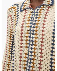 Bode ストライプ コットンクロシェシャツ Multicolor