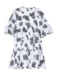 Erdem エディソン フローラルフィルクーペ ツイルドレス White