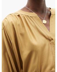 Zimmermann Natural Espionage Belted Silk Tunic Dress