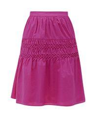 Merlette Castell スモック コットンローンスカート Multicolor