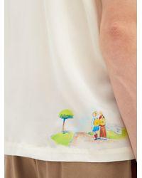 メンズ Bode ハンドペイント シルクシャツ Multicolor